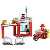 Cogo Juego Bloques de Construcción Vehículos de Bombero 3 en 1 Fire. Incluye Puesto de Bombero y Cabina de Mando (86 Piezas). Juguete Ideal para Niños y Niñas. No Apto para Menores de 6 Años