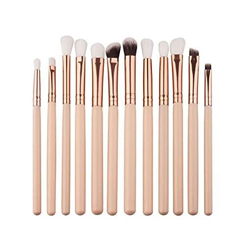 12 peças/conjunto de pincéis de maquiagem pó base, sombra, delineador, pincel labial, ferramenta (tamanho : como mostrado)