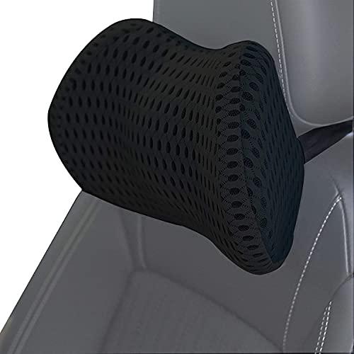 ZATOOTO Kopfstütze Auto, Auto Nackenkissen Adjustable Elastic Band, Ergonomische Memory Schaum Nackenstütze (Schwarz)