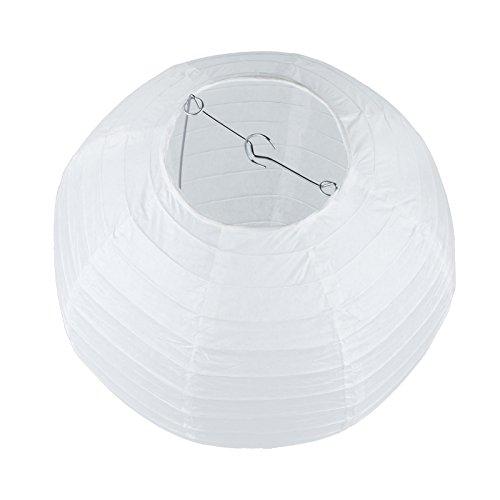Vlovelife Lot de 10 lanternes en papier rondes blanches de 20,3 cm pour décoration de mariage, fête d'anniversaire, décoration de Noël, Papier, blanc, 25cm (10'')