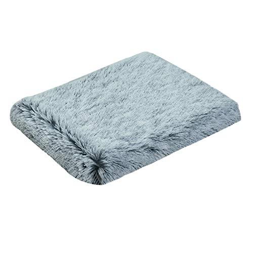 Cama para mascotas, cómodo colchón de felpa Wave Memory Foam, colchón de contorno ergonómico, cama para perros pequeños de tamaño mediano, mejor sueño, lavable