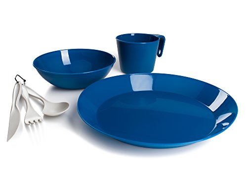 GSI Outdoors Cascadian 1 Person Table Set for Camping, Lightweight and Durable, Blue