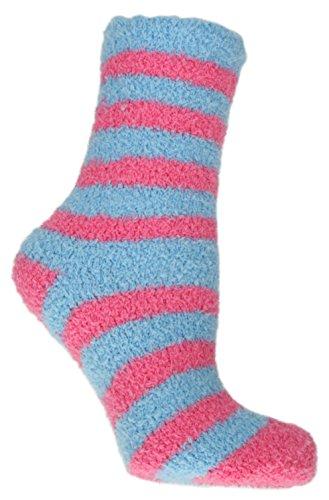 RJM, Snowsoft, Damen-Socken, gestreift, Größe 37-40, rosa
