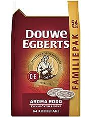 Douwe Egberts Koffiepads Aroma Rood, Familiepak, (216 Pads, Geschikt voor SENSEO Koffiepadmachines, Intensiteit 05/09, Medium Roast Koffie), 4 x 54 Pads