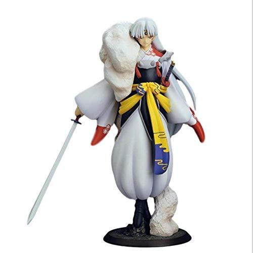 LJXGZY Estatua de Anime Inuyasha, Estatua estatica de Sesshoumaru, Juguete de Alta 23 CM, Estatua Modelo Hecha a Mano, coleccion de Anime, decoracion, Modelo, Estatua de Regalo de cumpleanos