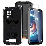 ZXLZKQ Fundas + Protector de Pantalla para Oukitel WP10 5G (6.67 Pulgadas), Negro Suave Silicona Case Cover TPU Carcasa Caso con Cristal Templado para Oukitel WP10 5G - DUO5