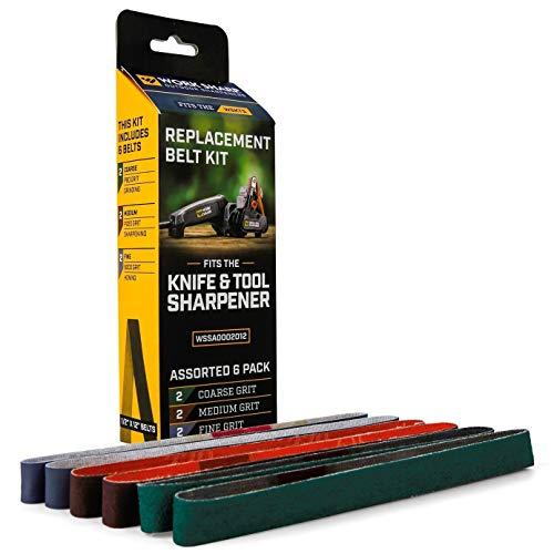 Work Sharp WSSA0002012 Knife & Tool Sharpener Replacement Belt Kit (WSKTS & WSKTS-KT)