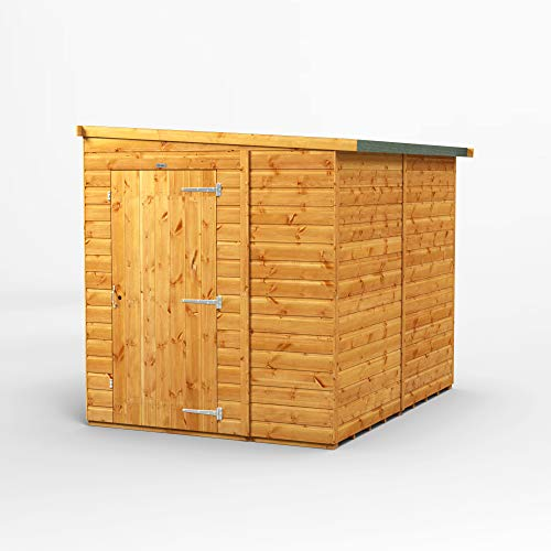 POWER | 8x6 Reverse Lean To Windowless Pent Wooden Garden Shed | Size 8 x 6 No Windows | Super Fast Delivery or Pick your own