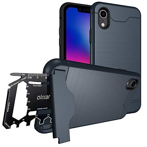 Olixar Funda iPhone XR Multi-Herramienta/Tarjeta - Funda Militar/Survival - Alta Protección/Texturación Antideslizante X-Ranger Survival - Color Azul