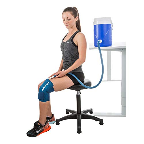 Aircast Cryo Cuff Cold Therapy Knee Solution - Blue - Large, Non Motorized, Gravity-fed System,...