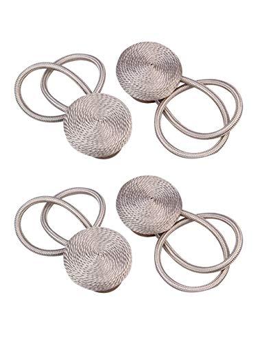 SPDYCESS Dekorativ Raffhalter Magnetisch Vorhangseil Clip Halter - 4 Stück Band binden Gewebte Vorhangschnalle Heimzubehör