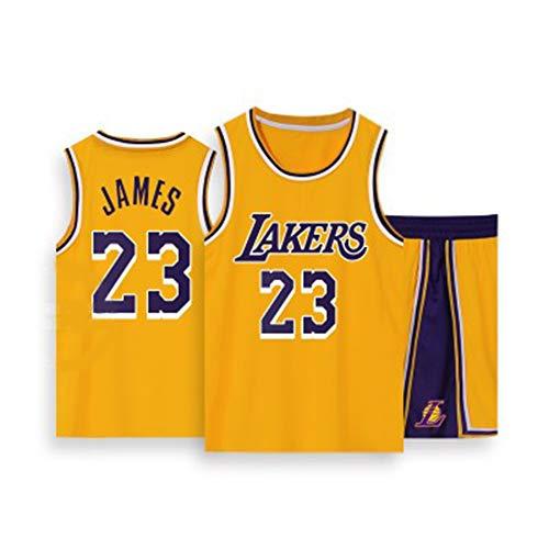 Gsaknc Camiseta De Seguidor De Fans De Angeles Lakers 23 James #, EdicióN Conmemorativa VersióN Bordada Uniforme del Equipo, Tela De Malla Transpirable