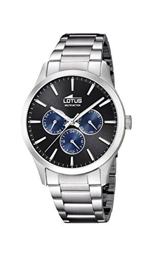 Lotus Watches Reloj Multiesfera para Hombre de Cuarzo con Correa en Acero Inoxidable 18575/6