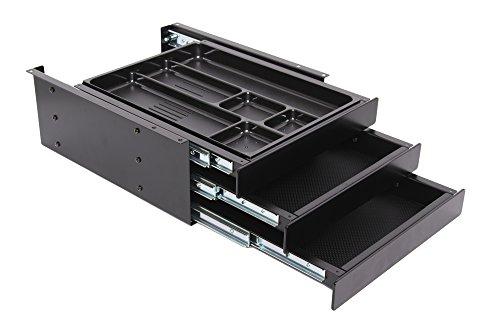 Actiforce Schubladenbox Tri Materialschublade Untertisch Schwarz B x H x T: 29 cm x 13 cm x 35 cm