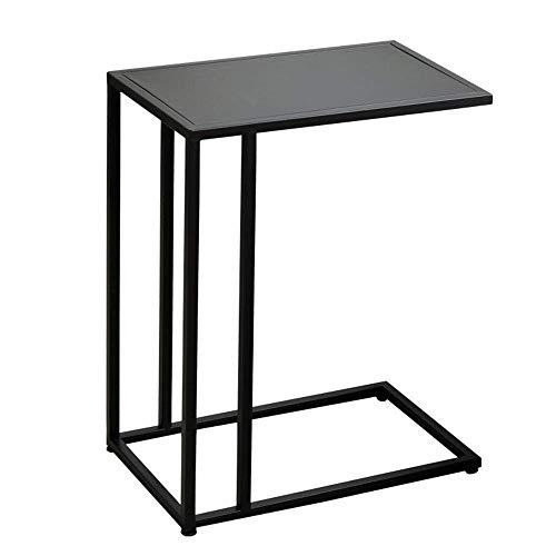 Axdwfd Table d'appoint en fer forgé de table d'appoint, idéale pour un canapé-lit 48x28x58cm (noir)