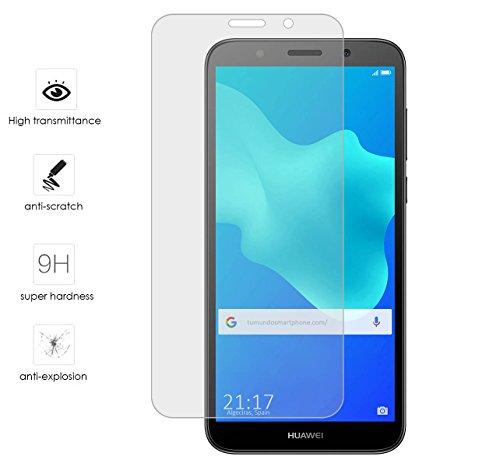 Tumundosmartphone Protector Cristal Templado para Huawei Honor 7S/Y5 2018 Vidrio