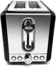 Toasters 2 Slice Best Rated Prime,Black Stainless Steel, Bagel Toaster - 5 Bread Shade Settings,Bagel/Defrost/Cancel Function,1.5in Wide Slots, Removable Crumb Tray,for Croissants,and Various Bread Types