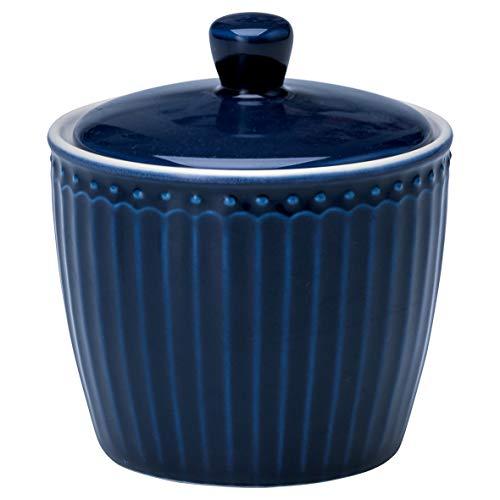 GreenGate Porzellan-Zuckertopf, Alice Dark Blue