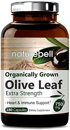 NatureBell Organically Grown Olive Leaf Extract 750mg, 180...