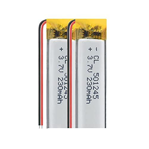 RFGTYH Batería de Litio de polímero de celda LiPo 3.7V 501245 Modelo 230MAH Celdas de Iones de Litio Recargables para navegación