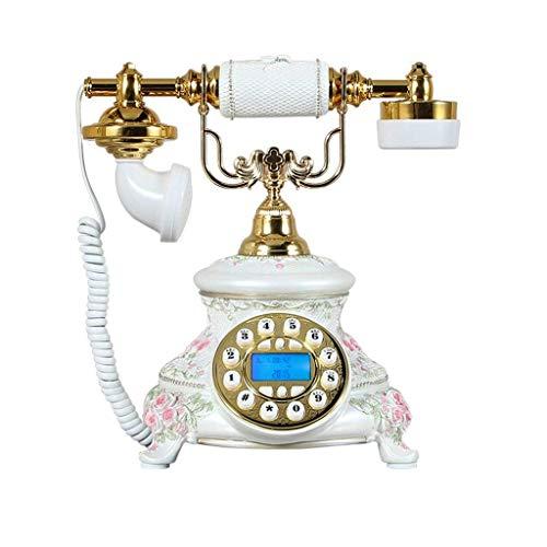 Dirgee Teléfono Antiguo, Identificador de Llamadas/Pastoral/Romántico Aesthetics/Pink Ornament 25x20x28cm Teléfono Celular (Color # 1) (Color : #2)