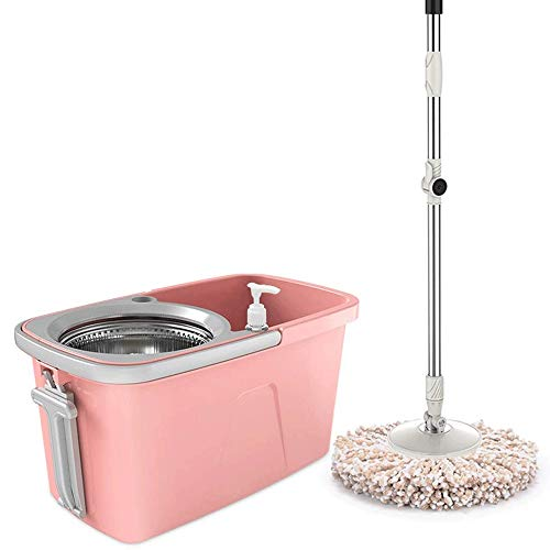 LYYJIAJU Spin Mop and Bucketspin Mop Rotating Mop and Bucket – Level 2 Floor Mop System with Built-in Detergent Dispenser to Separate Clean and Dirty Water for A Cleaner Floor