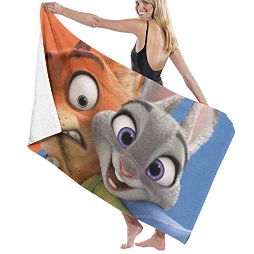 SJPillowcover Zootropolis Toalla de baño super suave absorbente para playa, piscina, camping, deportes, etc. Talla única