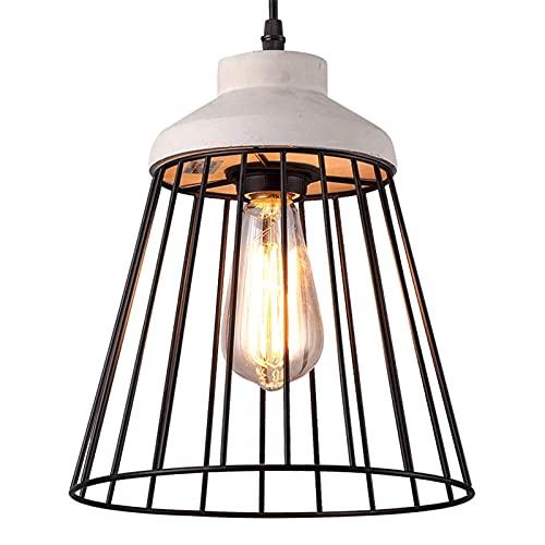 Auoeer LED Mesa de Comedor Lámparas de araña, Nórdico Negro Hollow Hollo Hollo Cemento Iluminación Araña Decorativa Lámparas de Techo Mini Creative Cafe Tienda Aisle Pequeño Colgante Luz