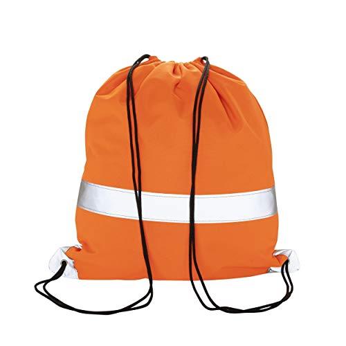 Toolpack rugtas/draagtas gereedschap 53x37 - oranje met reflecterende strepen - veiligheidsgereedschapstas