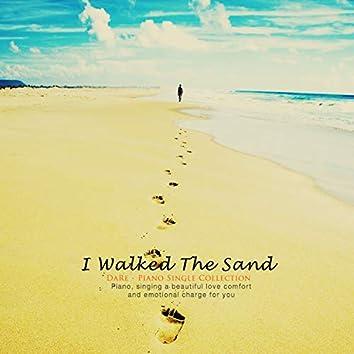 모래 위를 걸어가다