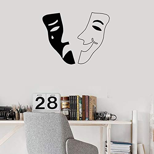 sanzangtang Theater masker vinyl muur applique theater familie kamer art deco sticker muurschildering