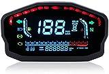 Medidor de velocímetro de motocicleta, velocímetro LCD LED impermeable para motocicleta, retroiluminación digital del odómetro para 1, 2,4 cilindros.