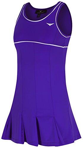 Bace Vestido de tenis morado y blanco con ropa interior para niños, vestido de tenis para niños, vestido de netball, vestido de golf (4-5 años de edad)
