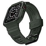 Spigen Rugged Armor PRO Compatibile con Apple Watch Custodia con Cinturino per 40mm Series 6/SE/5/4 - Verde Militare