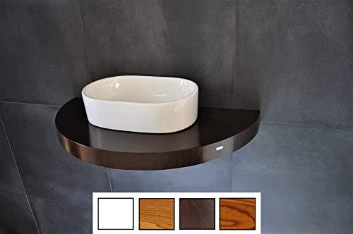 Carl Svensson Edler Waschtisch Waschtischplatte Waschkonsole oval/rund mit Halterung OT-80 (OT-80 Walnuss-Wenge)