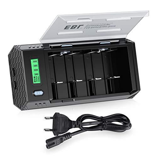 EBL 908 Universal LCD Akku Ladegerät und Entladegerät- für AA/AAA/SC/Baby C/Mono D/9volt Block/NiMH/NiCD wiederaufladbare Batterien und USB Geräte, Schnell- USB Batterieladegeraet