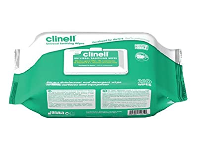 Clinell Universal Sanitising Wipes Pack of 40 by Clinell