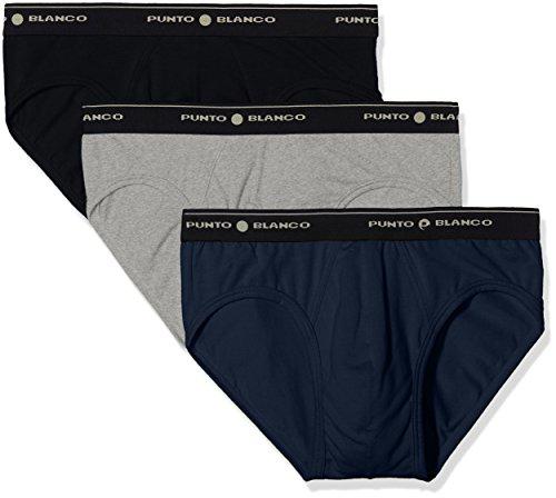 Punto Blanco Triplo Basix Slip, Multicolor(Multicolor595), XX-Large (Tamaño del Fabricante:60) (Pack de 3) para Hombre