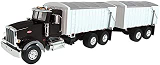 ERTL Big Farm Lights & Sounds Peterbilt 1: 16 Model 367 Straight Truck W/ Grain Box & Grain Box Pup Trailer Toy