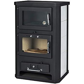 Estufa de leña con horno de 10/15 kW de potencia de calefacción ...