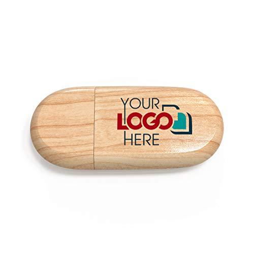 Possibox Memoria USB de Madera Personalizada 32GB para Publicidad Pendrive con Logotipo/Texto - al por Mayor - USB 3.0 Arce, 1000 Piezas