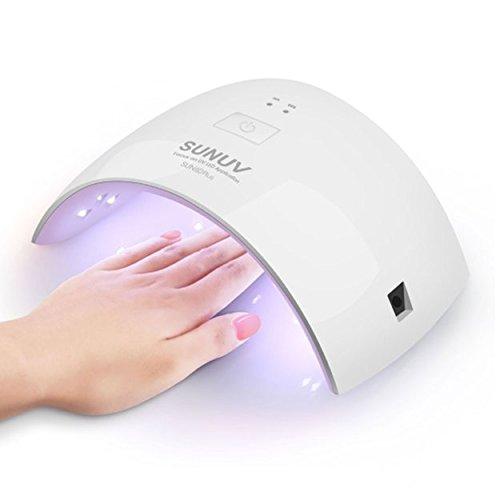 Nagellampe Sun Perlen, LED-Lampe, doppelte Lichtquelle, 36 W, Einstellung des Timers, Polymerisation, Gel-Polierer, Trockner