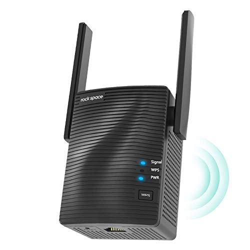 Amplificador Señal WiFi - Amplificador WiFi 5G & 2.4G, Repetidor WiFi Potente AC1200 con Puerto Gigabit,Extensor de WiFi...