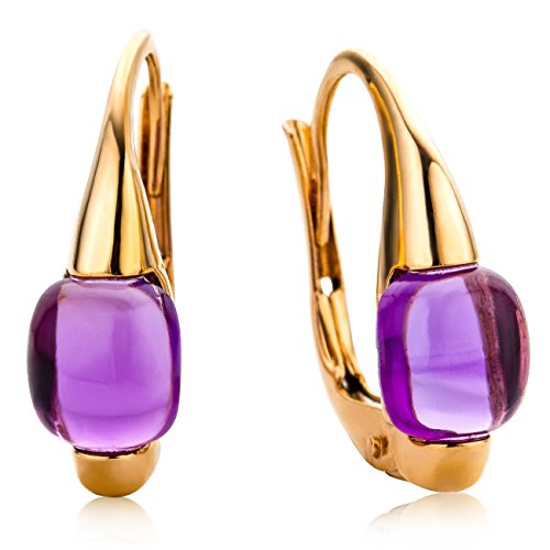 Miore Damen-Ohrringe 9 Karat (375) Rosegold Amethyst MNA9015E