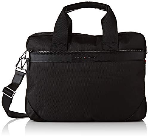 Tommy Hilfiger Elevated Nylon Computer Bag, Sacs portés épaule homme, Noir (Black),
