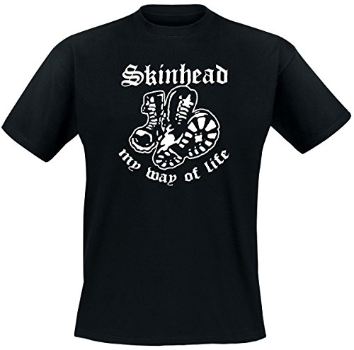 Skinhead My Way of Life T-Shirt, schwarz, Grösse XL