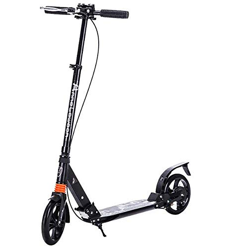 Adult Folding Scooter with 20mm Large Wheels, Max Speed 10km/h, Kick Knee Scooter Pedal Up to 100 kg Best Gift