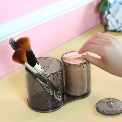 ZHAS Boîte de Rangement pour cosmétiques Boîte de Rangement Transparente pour Papillon Rose Double boîte à Bijoux avec Seau
