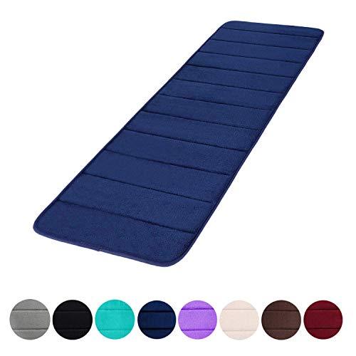 Memory Foam Soft Bath Mats - Non Slip Absorbent Bathroom Rugs Rubber Back Runner Mat for Kitchen Bathroom Floors 16