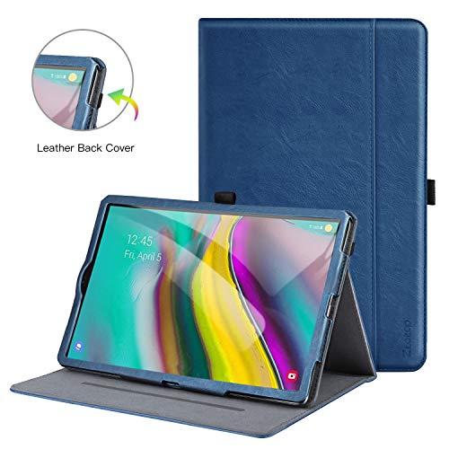 Ztotop Hülle für Samsung Galaxy Tab S5e 10.5,für Modell T720/T725,Premium Leder Geschäftshülle mit Ständer,Kartensteckplatz,Auto Schlaf/Aufwach Funktion,Mehrfachwinkel,Navy Blau